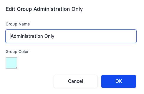 Manage Groups - Edit