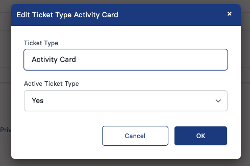 Settings Ticket Types 2